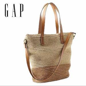 Gap | Colorblock Straw Tote Bag